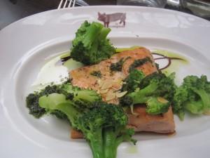 Wild salmon at Le Comptoir