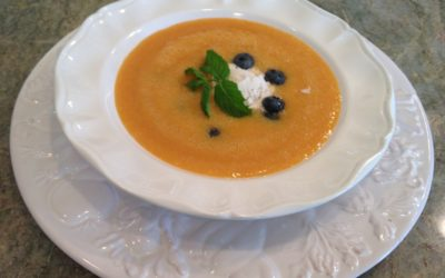 CHILLED MELON, APRICOT, and PEACH SOUP