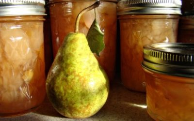 Sugar-Free Pear Conserve with Ginger and Cardamom