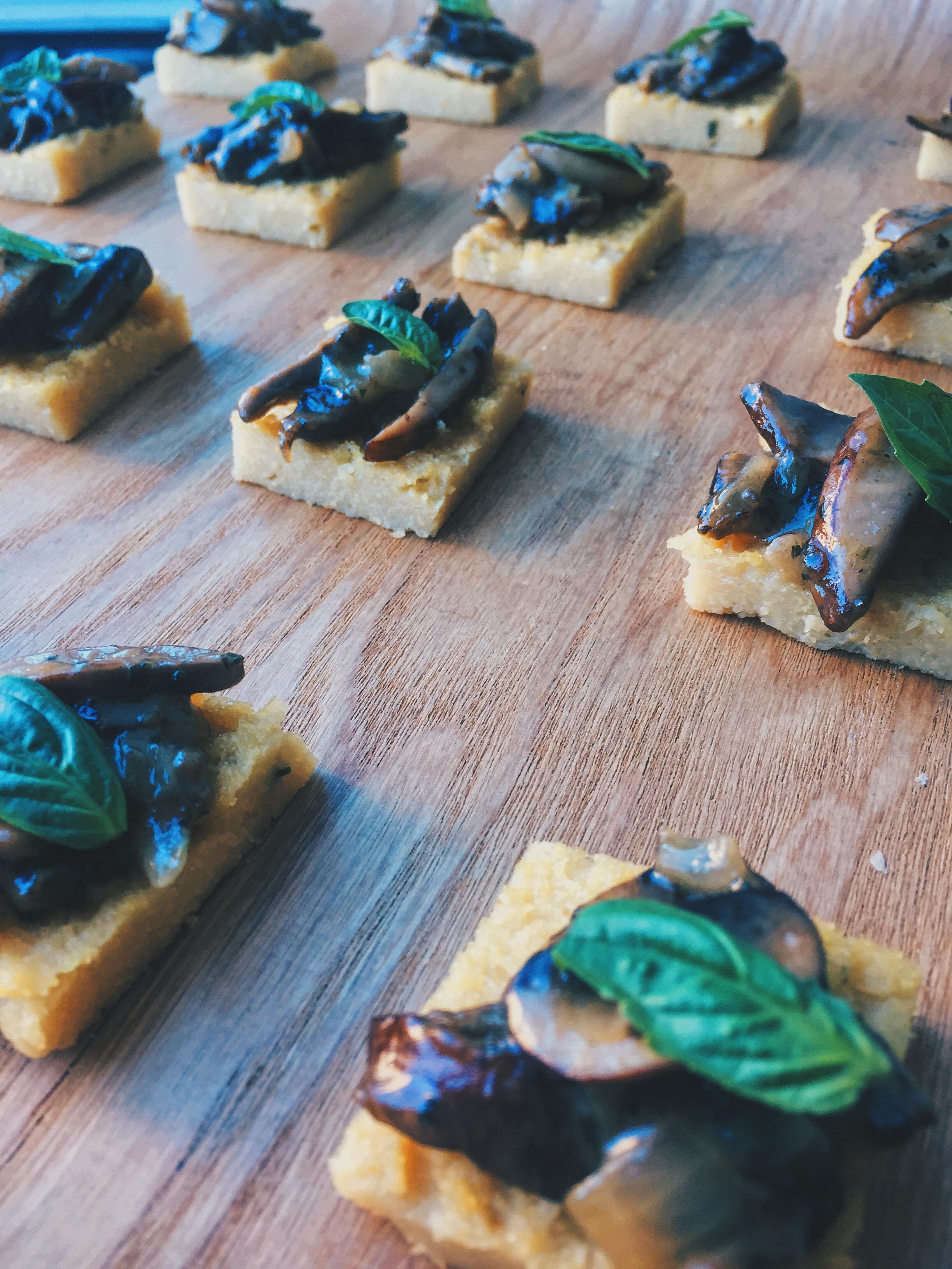 Polenta with Mushroom Ragu
