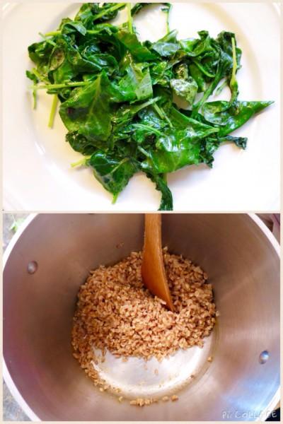 Kale and farro