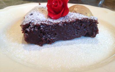 Chocolate Almond Flourless Cake