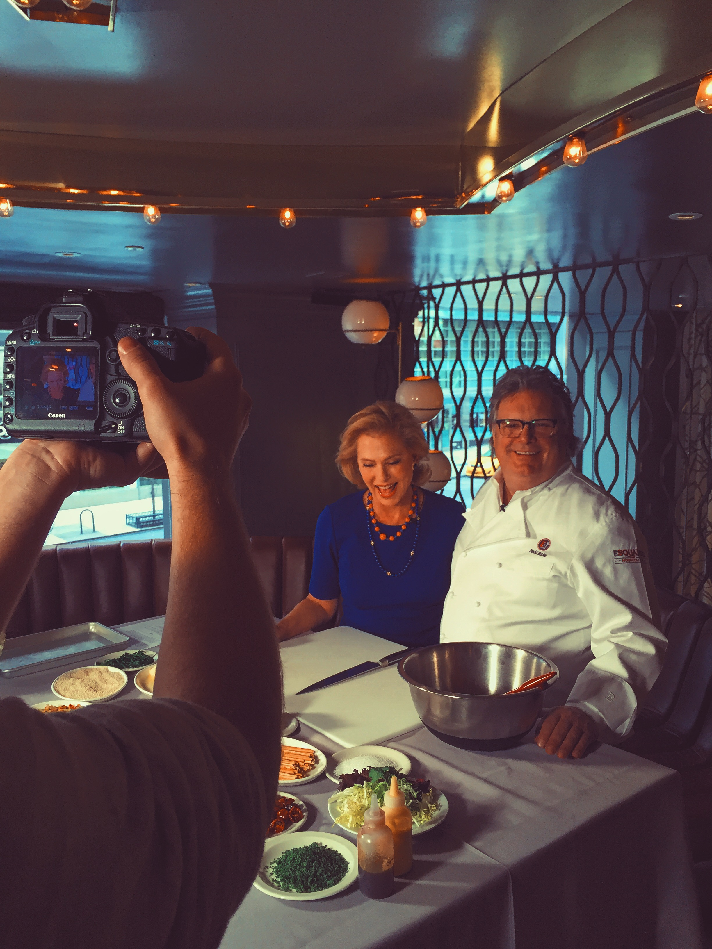 Pamela and Chef David Burke