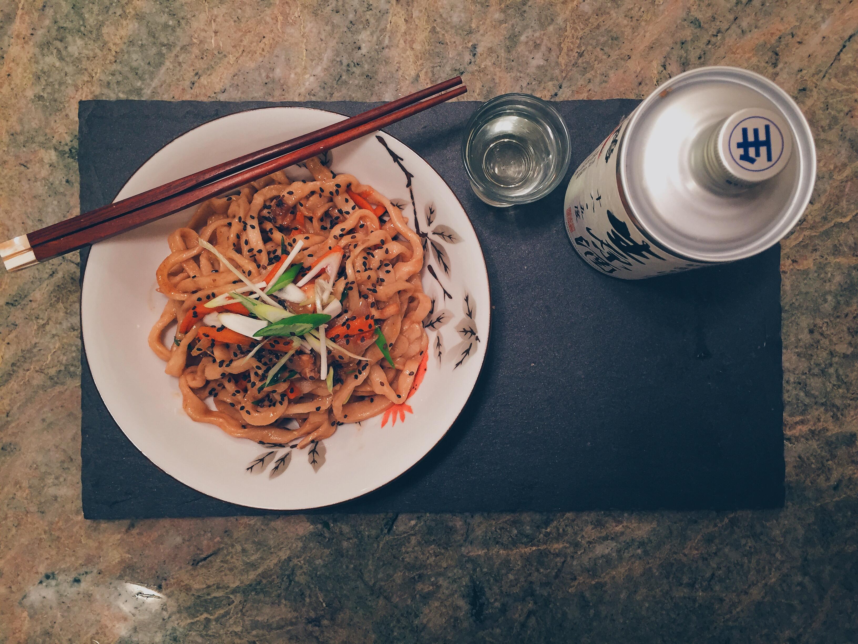 Udon Noodles Stir Fry