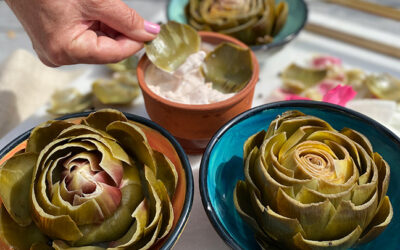 Pernod-Scented Artichokes with Black Olive Aioli