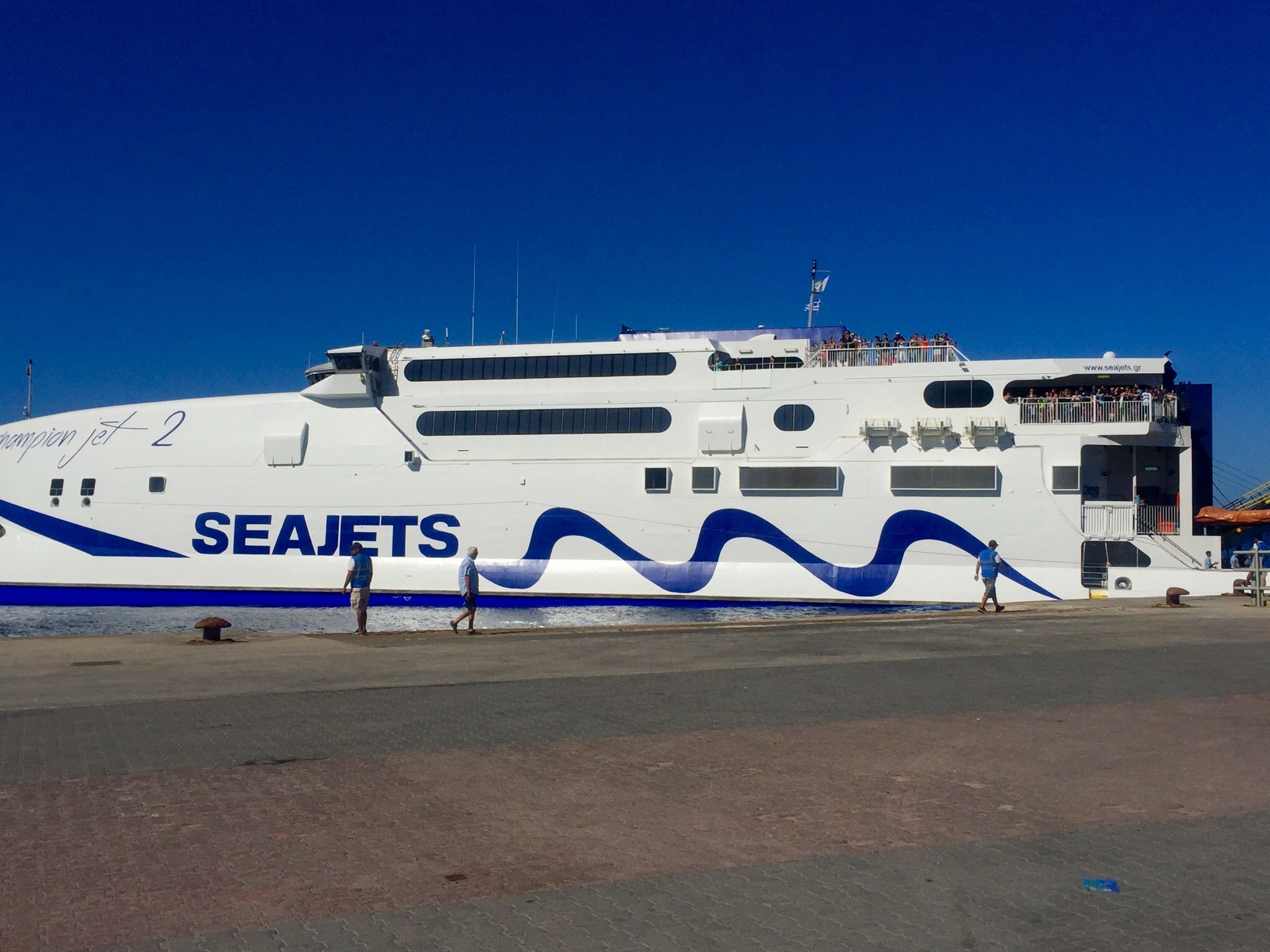 Ferry to Santorini from Mykonos