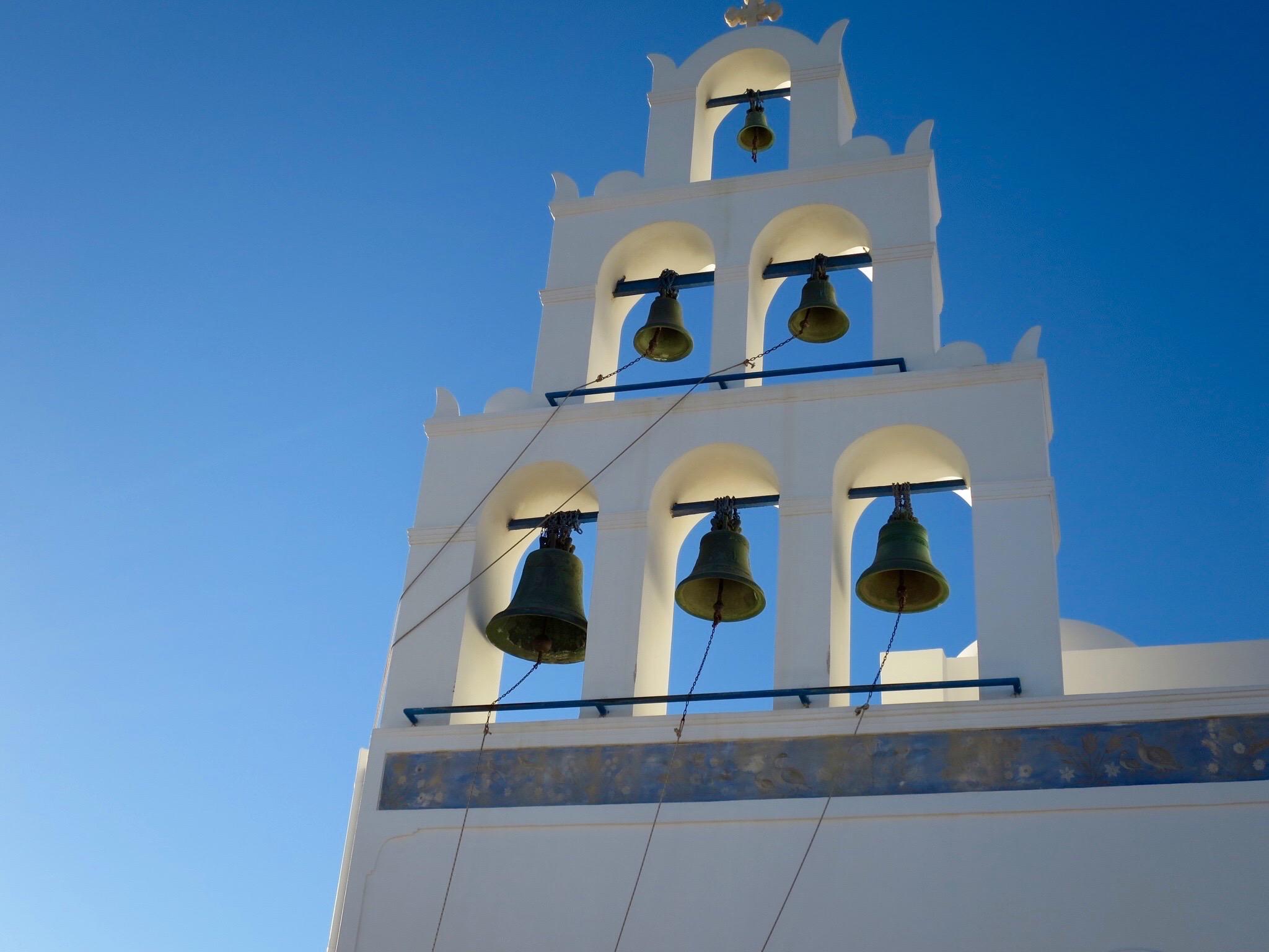 Greek Orthodox Church Bells in Oia, Santorini