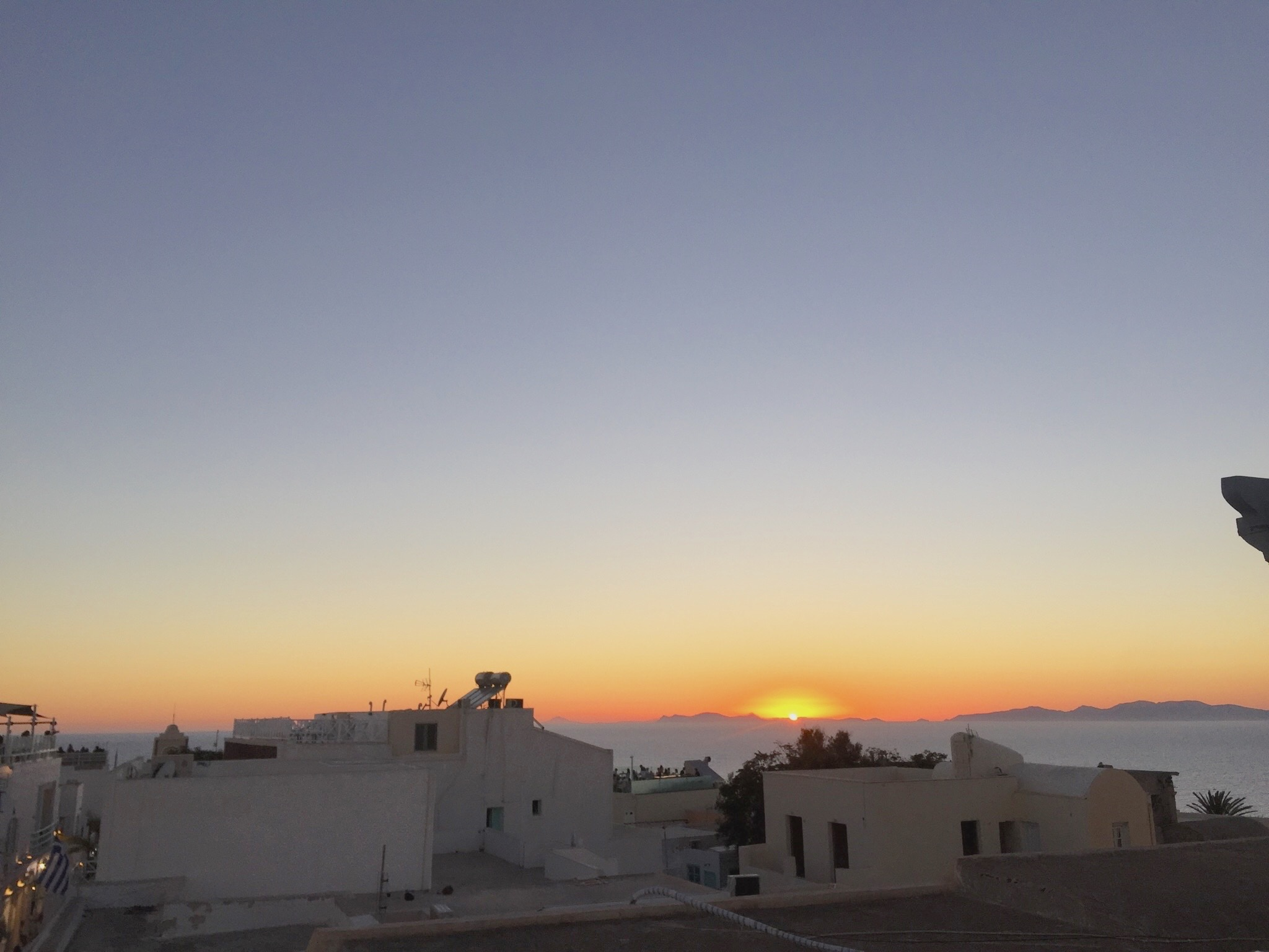 Sunset in Santorini