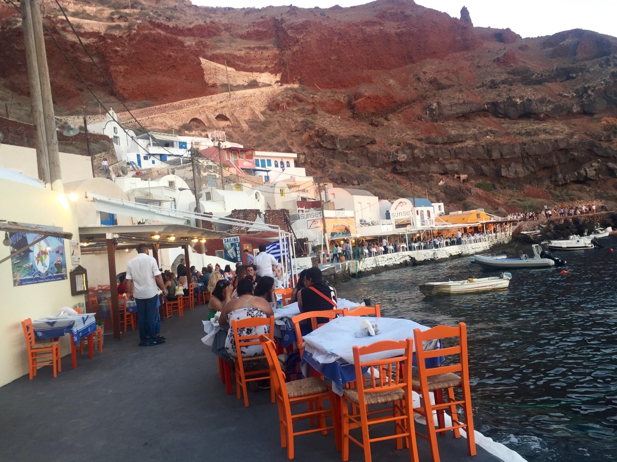 Ammoudi Beach Restaurants in Oia Santorini