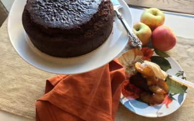 Ottolenghi's Gingerbread Cake with Brandied Apples