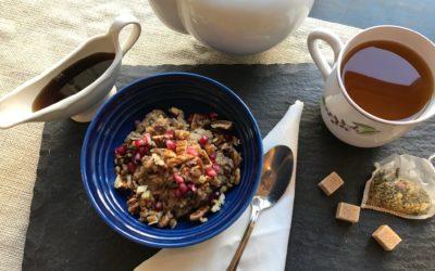 Bourbon Almond Pecan Rice Pudding