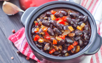 Quick Cumin Scented Black Beans