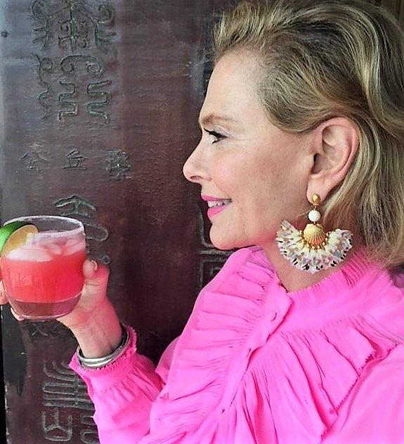 Pamela Morgan Toasts Summer with her Watermelon Margarita_Pink Drink Recipes
