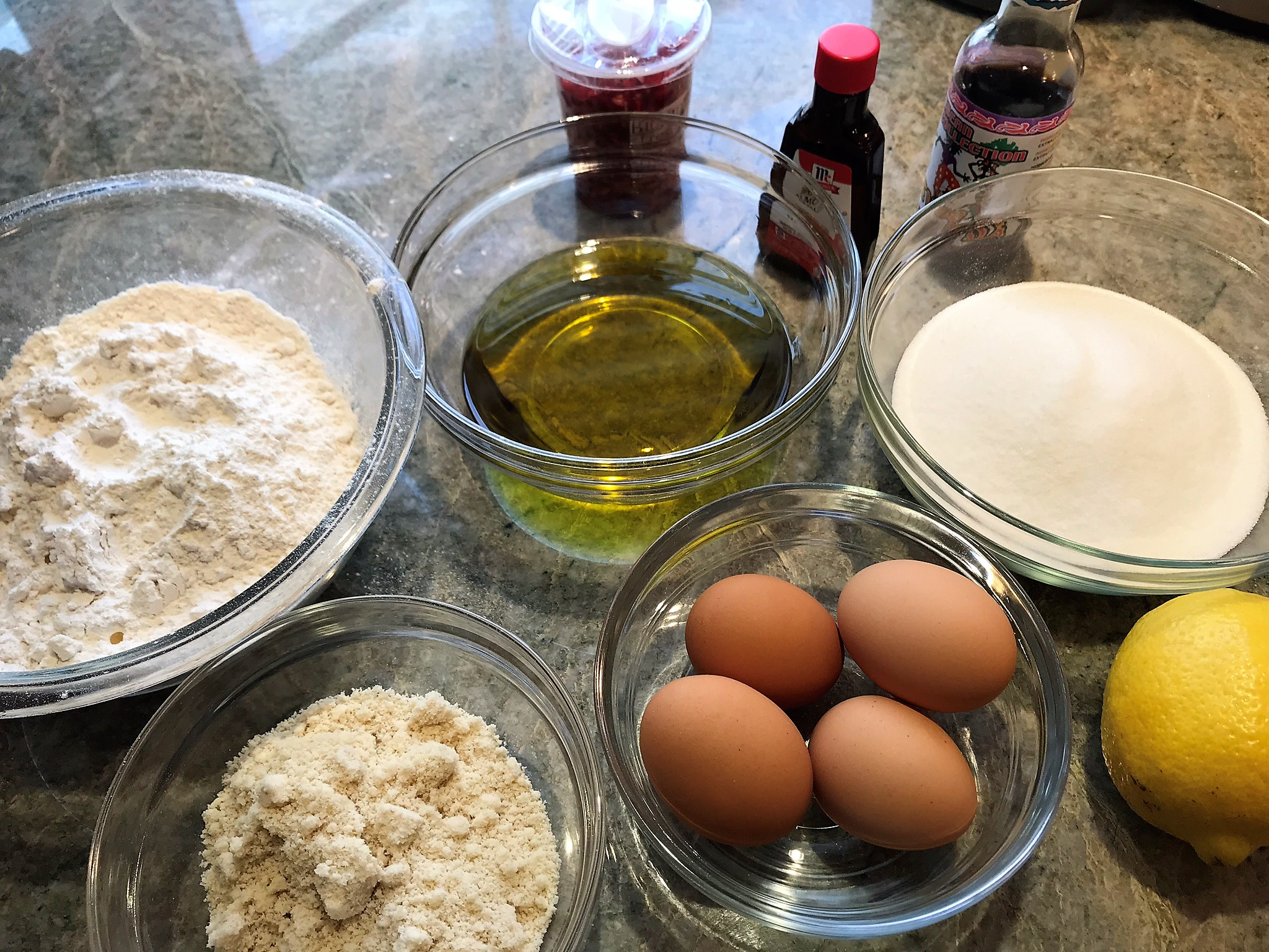 Almond Olive OIl Cake Ingredients_Flirting with Flavors_Pamela Morgan