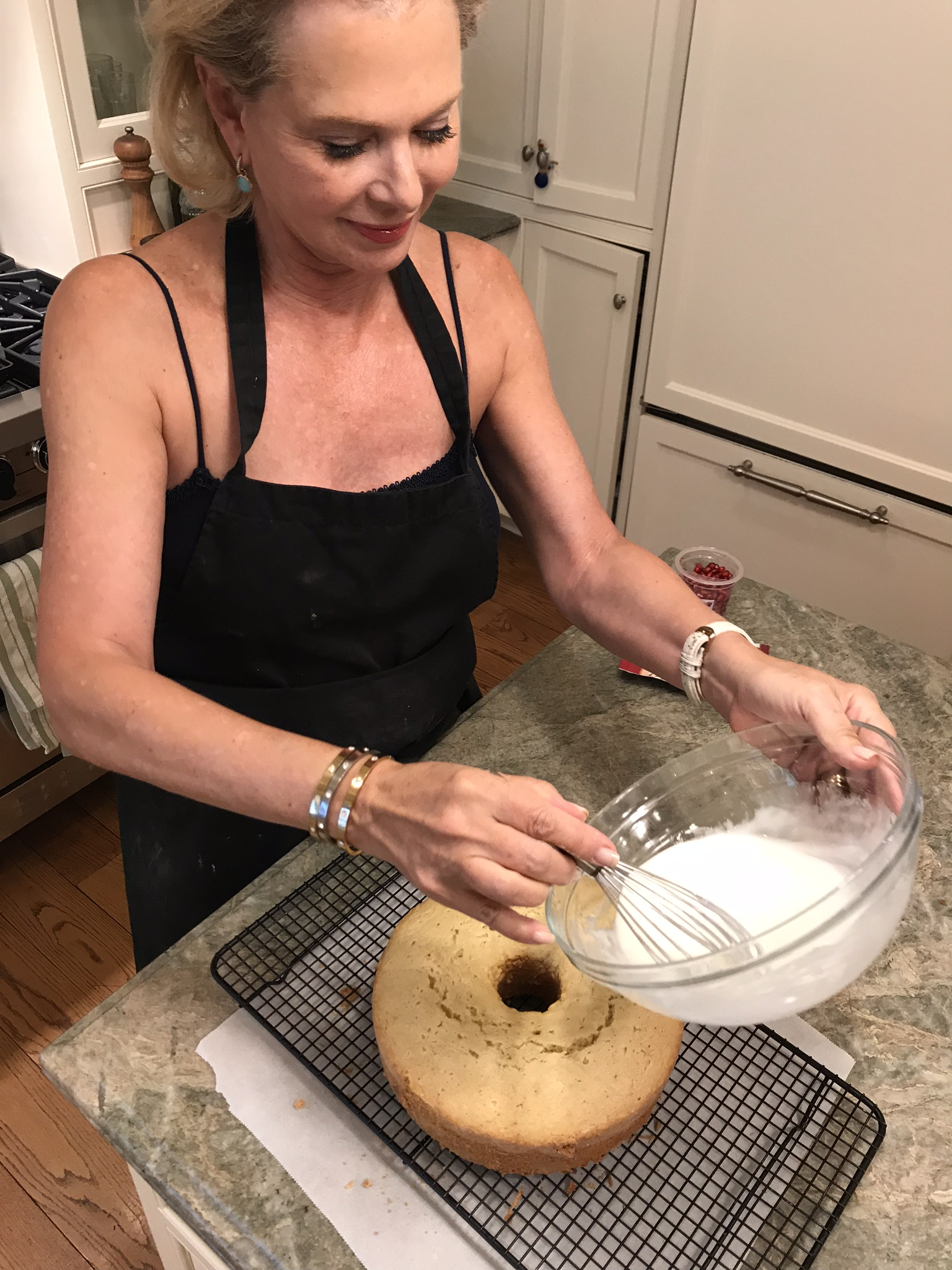 Icing Almond Olive Oil Cake_Pamela Morgan_Flirting with Flavors