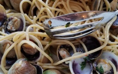 MARK'S BABY CLAM SAUCE with SPAGHETTI