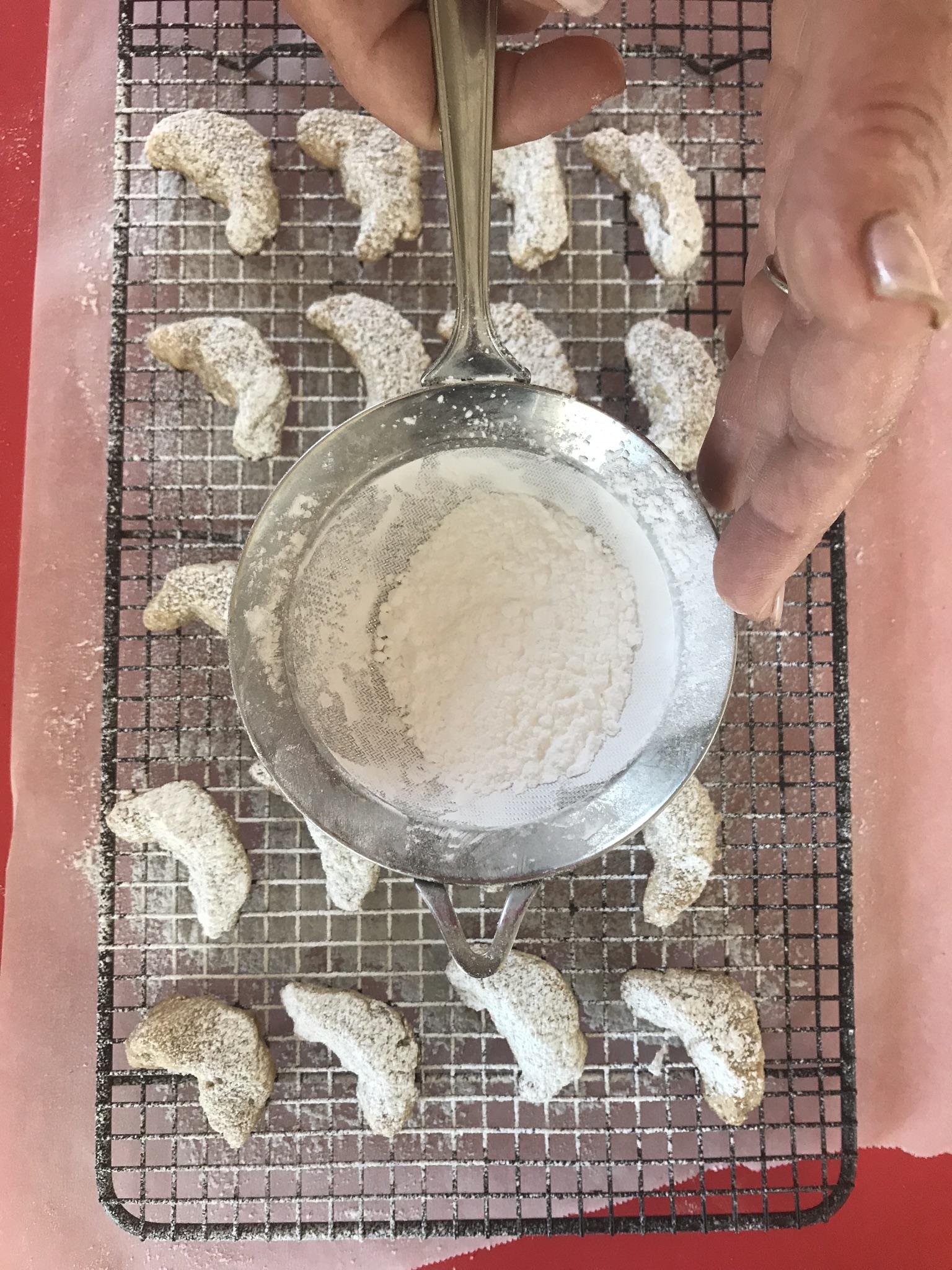 Hungarian Crescent Moon Cookies Sugar Overhead_Pamela Morgan_Flirting with Flavors