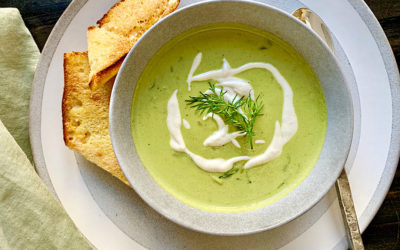 DAIRY-FREE ASPARAGUS and LEEK BISQUE