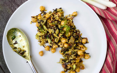 Chickpea, Brown and Wild Rice Salad with Moroccan-Spiced Dressing