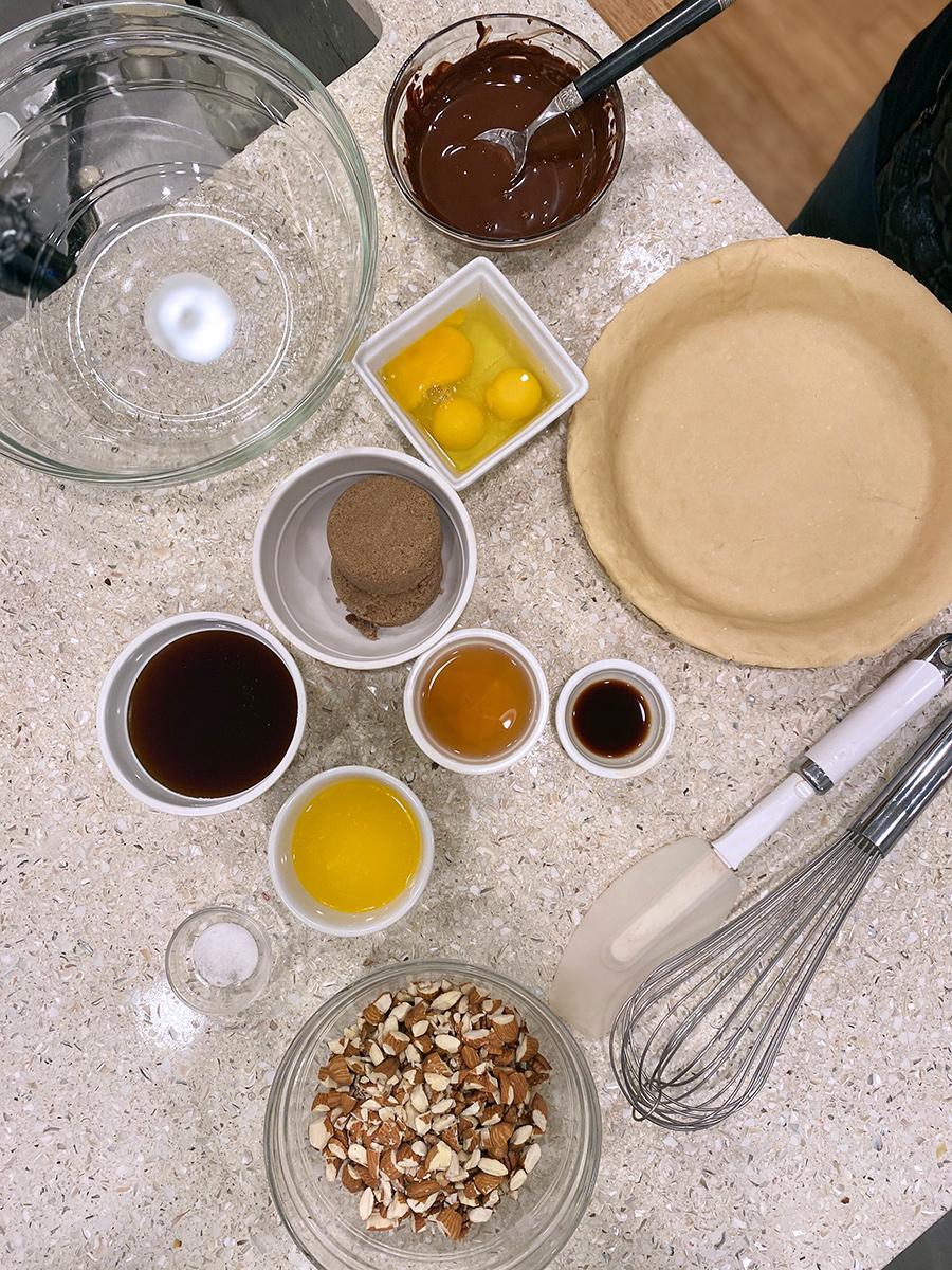Pamela Morgan's Harvest Nut Pie ingredients