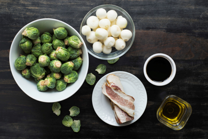 The Crispiest Brussels Sprouts with Balsamic and Bacon