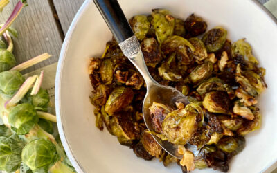 Roasted Brussels Sprouts with Maple Walnut Butter