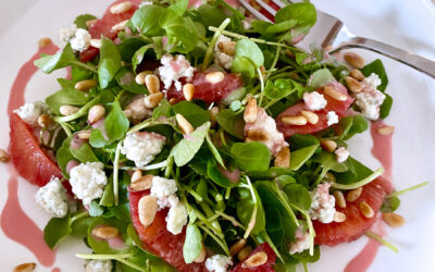 Watercress and Blood Orange Salad with Gorgonzola and Pine Nuts