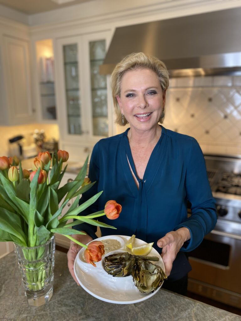 Grilled Artichokes with Remoulade, Pamela Morgan