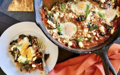 Level Up Your Brunch Game with my Three-Green Shakshuka