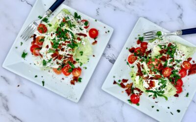 Iceberg Wedge Salad with Crispy Bacon and Creamy Blue Cheese Dressing