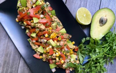 Smoky Southwestern Chicken Salad with a Tequila-Green Onion Marinade
