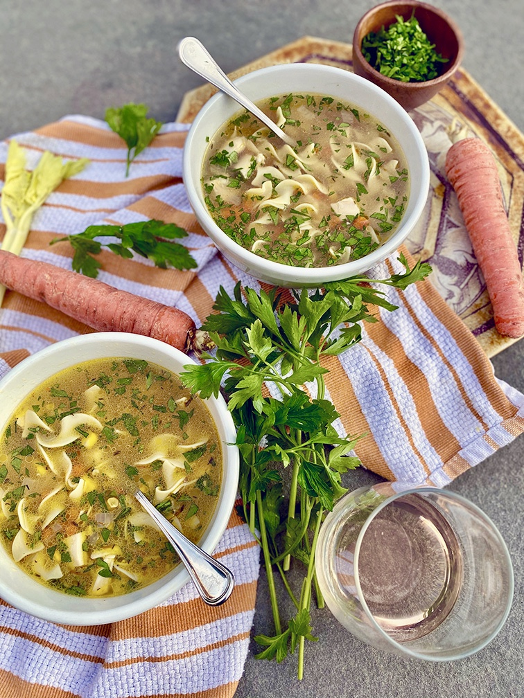 The Ultimate Chicken Noodle Soup with Corn and Saffron