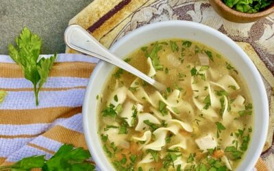 Make The Ultimate Chicken Noodle Soup with Corn and Saffron
